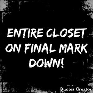 Other - Final mark downs